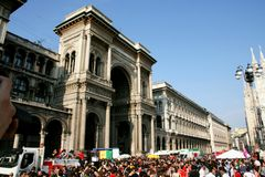 Milan, parade for the Italian Liberation Day Royalty Free Stock Images