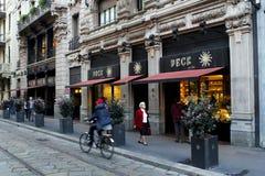 Peck in milan Royalty Free Stock Images