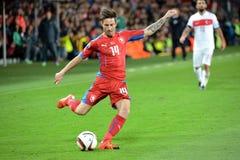Milan Petrzela. PRAGUE 10/10/2015 _ Match of the EURO 2016 qualification group A Czech Republic - Turkey Stock Images