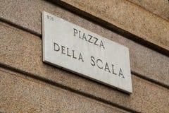 Milan Piazza della Scala Stock Images