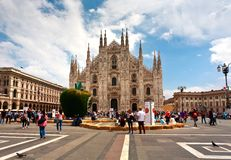 Milan Pizza Duomo Italy. Sky Stock Images