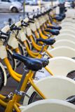 Milan public bicycles Royalty Free Stock Images