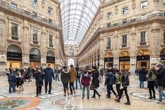 Milan, puits Vittorio Emanuele II Photographie stock libre de droits