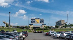 Milan Puskar Stadium in Morgantown, WV Stock Photo