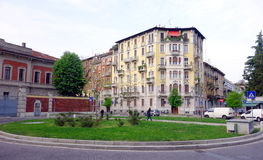 Milan Residential Area. A residential street in Milan, Italy Stock Photography