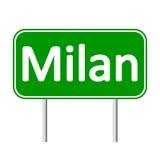 Milan road sign. Stock Photos