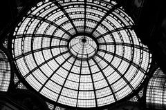 The Milan roof. The beautiful architecture of shopping squar roof in Milan Royalty Free Stock Photos