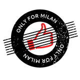 Only For Milan rubber stamp Royalty Free Stock Photography