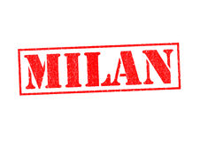 MILAN. Rubber Stamp over a white background Stock Images