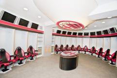 Milan's FC Locker Room. Official locker room of Milan's FC. San Siro stadium. Milan, Italy Royalty Free Stock Image