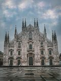 Milan& x27; s katedra, Lombardy, W?ochy obrazy royalty free