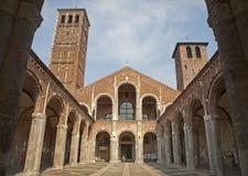 Milan - San Ambrogio church Royalty Free Stock Photos