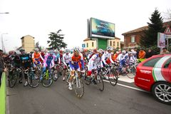 Milan-San Remo Cycle Race, 101st edition stock image