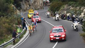 Milan-Sanremo Cycle Race 2008 Royalty Free Stock Images