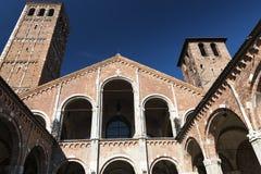 Milan: Sant'Ambrogio church Royalty Free Stock Photos
