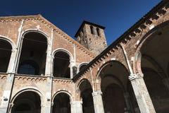 Milan: Sant'Ambrogio church Royalty Free Stock Images