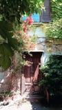 Milan secret place centro incisione. Centro dell incisione near navigli Milano edera green wall Stock Image