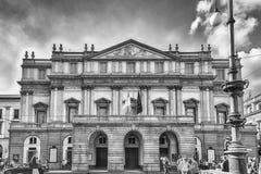 Facade of La Scala opera house in Milan, Italy Royalty Free Stock Photos