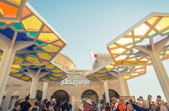 MILAN - 24 SEPTEMBRE 2015 : EXPO non identifiée 2015 de visite de personnes Photographie stock libre de droits