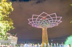MILAN - 24 SEPTEMBRE 2015 : EXPO non identifiée 2015 de visite de personnes Photo libre de droits