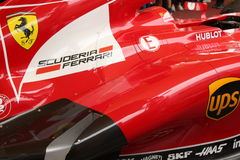 MILAN - 19 SEPTEMBRE 2015 : Pavillon de Ferrari, expo 2015 d'exposition universelle Photographie stock libre de droits