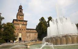Milan - Sforza castle Stock Photo