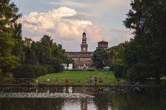 Milan: Sforza Castle and Last Supper Stock Photography