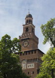 Milan Sforza Castle main tower Stock Images