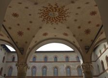 Milan Sforza Castle outdoor ceiling decoration Royalty Free Stock Image