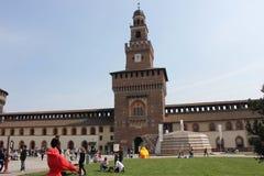 Milan Sforza Castle Park Royalty Free Stock Photo