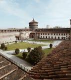 Milan sforzesco castle. Castello sforzesco of Milano Stock Photo