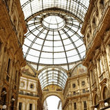 Milan Shopping Emanuele Vittorio II Galleria Stock Image