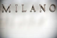 Milan sign and background Stock Photography