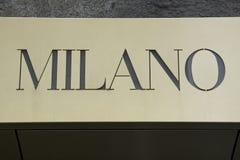 Milan sign Royalty Free Stock Images