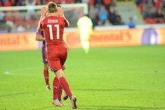 Milan Skoda. Pilsen 04/09/2015 _ Match of the EURO 2016 qualification group A Czech Republic - Kazakhstan Royalty Free Stock Photo