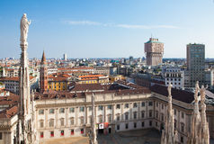 Milan skyline Royalty Free Stock Images