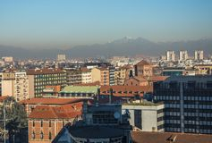 Milan skyline with modern skyscrapers in Porto Nuovo business district, Italy stock photo