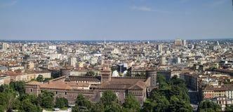 Milan skyline Stock Image