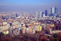 Milan Skyline/Porta Nuova/Parco Sempione Stockfotografie