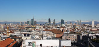 2016 Milan skyline Stock Photos