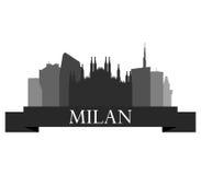 Milan skyline Royalty Free Stock Photography