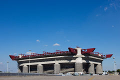 Milan stadion San Siro Arkivbild