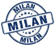 Milan stamp. Milan round grunge stamp isolated on white background Royalty Free Stock Photo