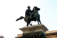 Milan Statue of Garibaldi in milan italy Royalty Free Stock Photos