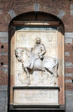 Milan - Statue of Umberto I at Sforza Castle Stock Photography