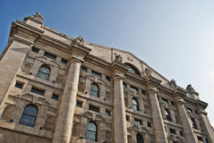 Milan Stock Exchange building. Oblique angle of Milan Stock Exchange building Royalty Free Stock Photos