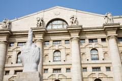 Milan Stock Exchange Royalty Free Stock Photography
