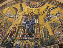 Milan  - stone mosaic from Ambrosius church Stock Photo