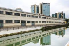 Milan stora Naviglio Arkivfoto