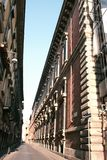 Milan Street. Ancient building Royalty Free Stock Image